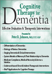 Image of Cognitive Therapy for Dementia: Effective Evaluation & Therapeutic Int