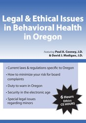Image ofLegal & Ethical Issues in Behavioral Health in Oregon