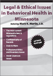 Image of Legal & Ethical Issues in Behavioral Health in Minnesota
