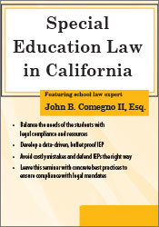 Image of Special Education Law in California