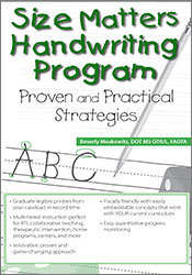 Image of Size Matters Handwriting Program: Proven and Practical Strategies