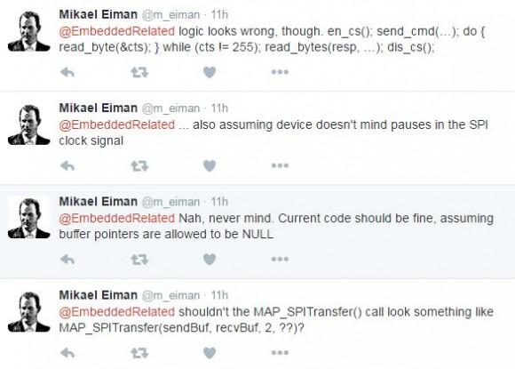Reading Response Bytes using SPI