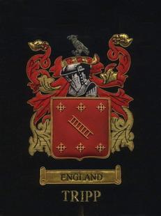 England Tripp Family Crest Emblem Embroiders