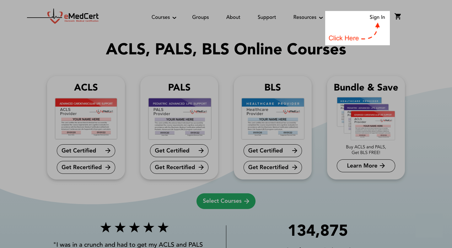 knowledge base | acls card download step 1a