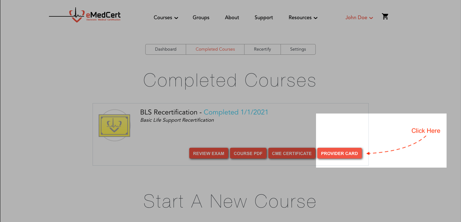 knowledge base | current bls card download step 3