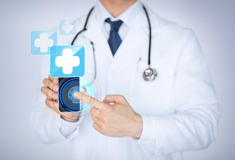 Doctor touching smartphone | eMedCert