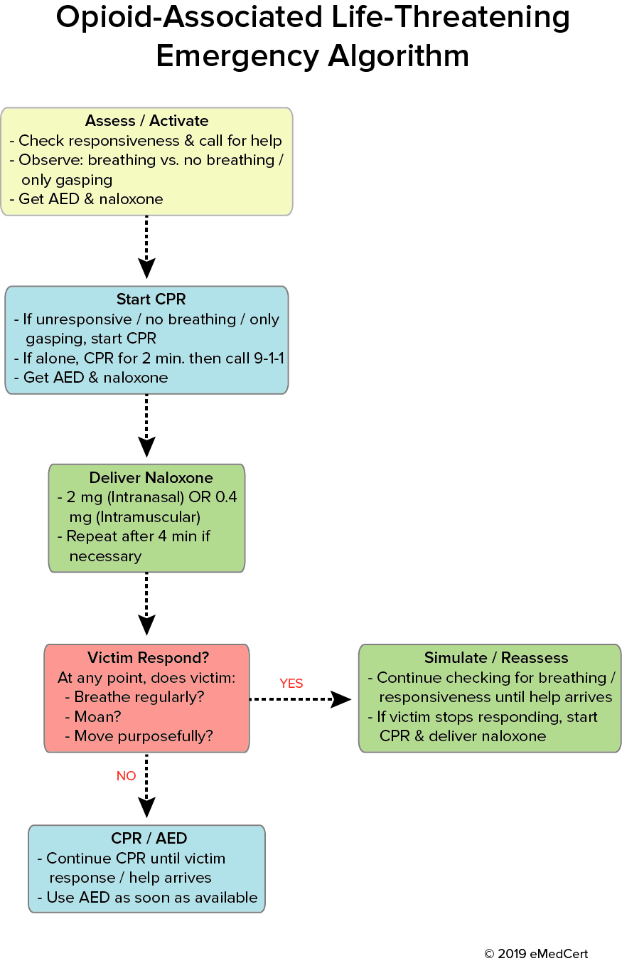 ACLS - Opioid-Associated Life-Threatening Emergency Algorithm | eMedCert