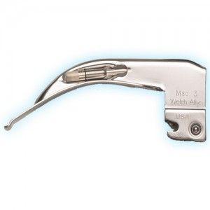Hoja para laringoscopio curvo Macintosh # 3 Cat WEA-69043 Welch Allyn
