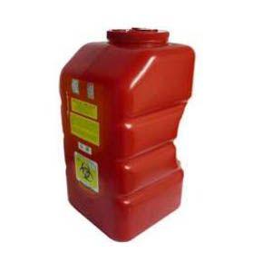 Recolector De Polipropileno Para Punzocortante, Capacidad Volumen: 12.0 Lts. Cat A1C-PC-12-R A1 Contenedores