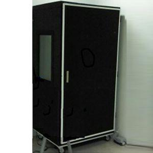 Cabina móvil de fieltro sonoamortiguada para audiometria 110x85x180 cm Atenuación 38/40 DB Cat INM-CSM-MO-F INAMET