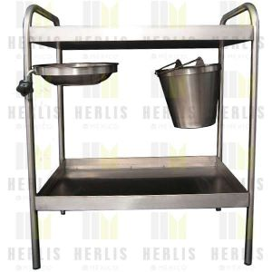 Carro para curaciones 80 x 50 x 105 Cms en acero inoxidable Cat. HEL-HM66 Herlis