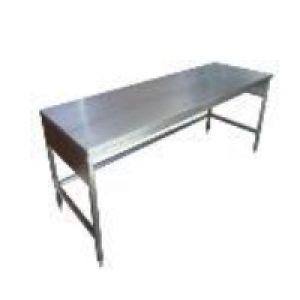 Mesa baja de 120x70x75 cms. con cubierta de acero inoxidable Cat. HEL-HM286 Herlis