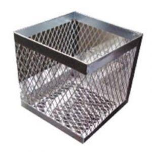 Canastilla de metal galvanizado de 15x15x15cm Cat AES-AE009 AESA