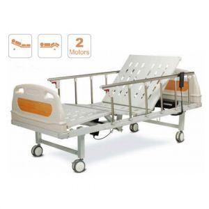 Cama hospitalaria electrica con 2 posiciones y barandales de aluminio Cat AOL-ALK06-B05P Aolike