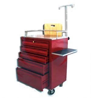 Carro rojo de emergencia de 5 cajones (corredera de carretilla) (76x46x100cm) Cat. ARV-LAM-022  Arveol