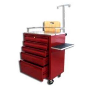 Carro rojo de 5 cajones con corredera de extension Cat ARV-LAM-023 Arveol