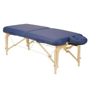 Mesa para masaje plegable SPIRIT II zafiro con soporte para cabeza y bolsa negra Cat DYN-ESMT1-SF Dynatronics