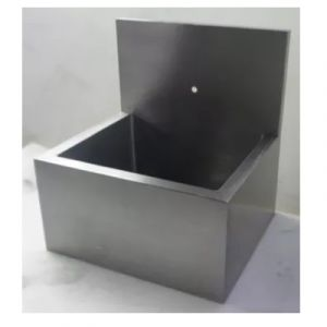 Lavabo para cirujano sencillo en acero inoxidable 80x60x76 cm Cat HEL-HM118 Herlis
