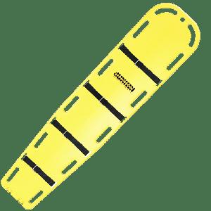Camilla de rescate de plástico rígida color amarillo 400 Lbs Cat JUN-SA365 Junkin