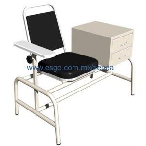Mesa con silla para toma de muestras esmaltada Cat ESG-MES901 Esgo