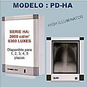 Negatoscopio cuadruple estandar de 10 cm, 6,300 LUX Cat SRY-PD-HA4 Slim Royal