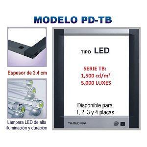Negatoscopio cuadruple LED, 5,000 LUX Cat SRY-PD-TB4 Slim Royal