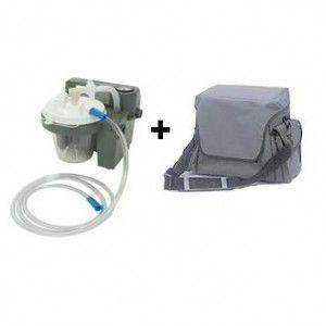 Aspirador para flemas portátil con baterías y maletín Cat. DEV-7305PD