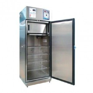 Refrigerador vertical de 17 pies para vacunas acero inox. 1 puerta sólida con congelador Cat REF-RVASCV-17 Refrimed