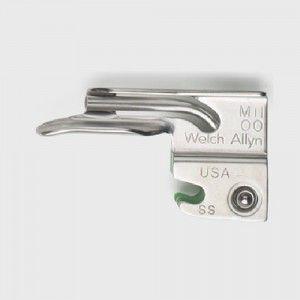 Hoja para laringoscopio recto miller # 00 de fibra óptica Cat WEA-68065 Welch Allyn