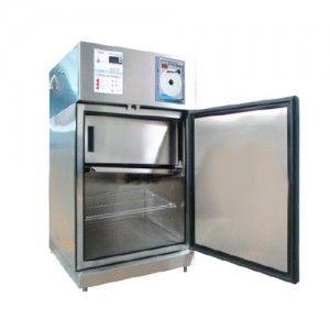Refrigerador vertical de 5.4 pies para vacunas y biológicos de acero inox. 1 puerta sólida Cat. REF-RVASCV-5-4 RefriMed