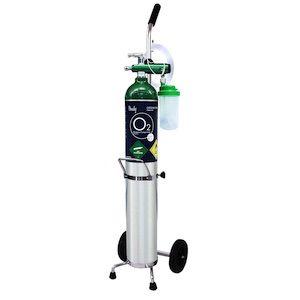 Equipo de oxigeno Tipo E de 680 lts sin oxigeno con accesorios Cat HNY-KIT-ME Handy