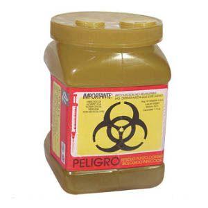 Recolector de polipropileno para líquidos color Amarillo 1.7 Lts. económico Cat A1C-PL-1A A1 Contenedores