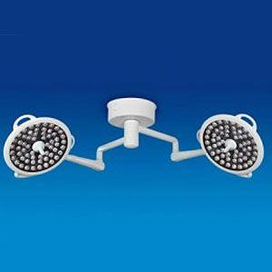 Lámpara para quirófano doble de techo de 120,000 Luxes Luz LED Mod. System Two Cat. MIL-SD2D2