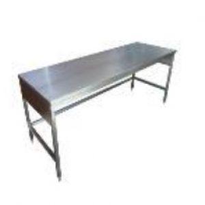 Mesa baja con cubierta de acero inoxidable de 150x70x875 cm Cat. HEL-HM287 Herlis