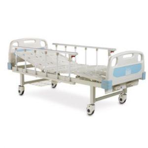 Cama hospitalaria manual con 2 funciones con ruedas Cat AOL-ALK06-A232P-C Aolike