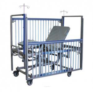 Cama pediatrica con sistema neumático Mod. Soft Care de 3 posiciones Cat AMP-P0022B-N Ampesa