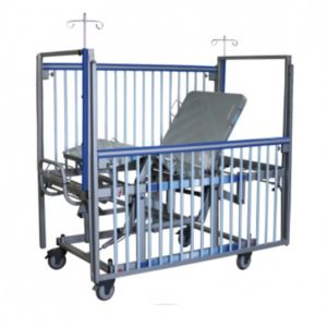 Cama pediatrica con sistema neumático Mod. Soft Care de 2 posiciones Cat AMP-P0022A-N Ampesa