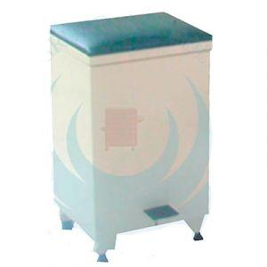 Bote basurero de pata esmaltado con asiento tapizado y pedal Cat ARV-LAM-004 Arveol