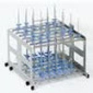 Cesta de laboratorio con secado de 2 niveles con 32 conexiones Cat. TUT-C507  Tuttnauer