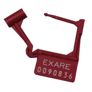 Candado de seguridad pasivo con folio para carro rojo con 100 Cat EXA-LEC9900A-EX EXARE