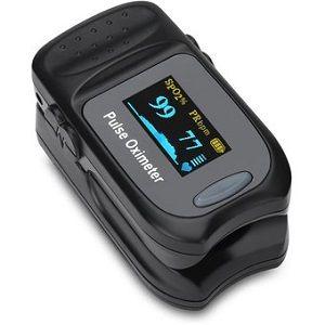 Oximetro de dedo, pantalla OLED, bluetooth y curva pletismografica Cat AUR-FS20-B Accurate