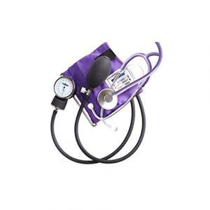 Baumanometro aneroide kit con estetoscopio de una campana color negro Cat MES-HS-50A-C6V1 Medstar