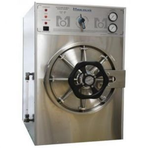 Autoclave horizontal cilíndrica doble cámara manual dental bifásica Cat MOL-M-35DC Man-Olve