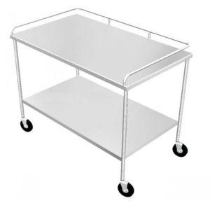 Mesa para instrumental de acero inoxidable de 140x70x90 cm Cat ESG-MES007 Esgo