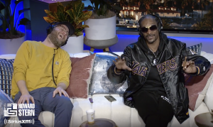 Stern Show guests Seth Rogen and Snoop Dogg