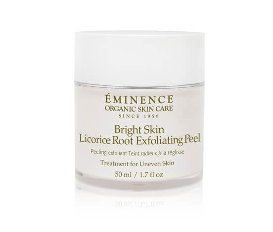 Eminence Bright Skin Licorice Root Exfoliating Peel 4 oz 6 Pack - Andalou Naturals 1000 Roses Rosewater Mask 1.7 oz