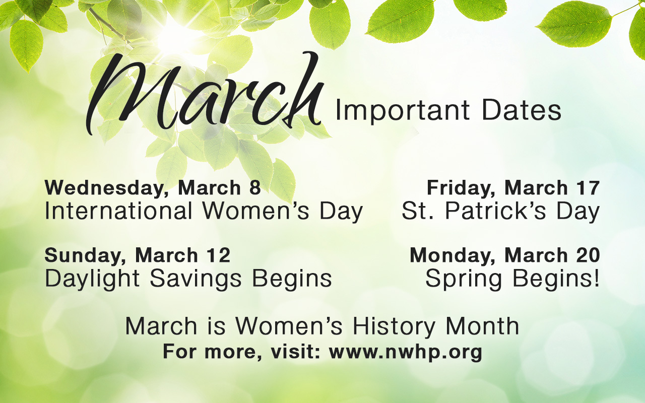 March Important Dates