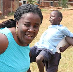 Rose Nyala with children
