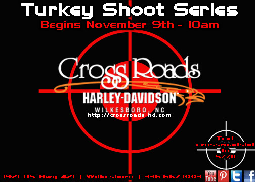 November 9-December 21, CrossRoads Harley-Davidson Turkey Shoot Series