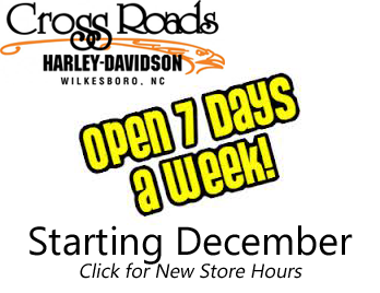 CrossRoads Harley-Davidson Open 7 Days a Week in December - See our Holiday Hours